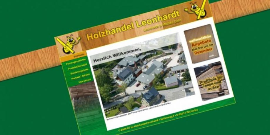 Website Holzhandel Leonhardt Print Und Mediendesign